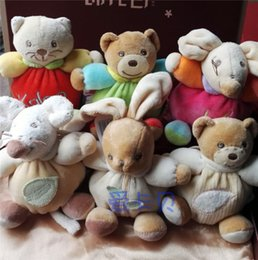 Wholesale Happy Mouse - Wholesale- new Soft plush baby toys, red cat, pink mouse,Green Bear, Happy Chubby Bear, 11cm