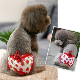 Wholesale Diaper Female Dog - Strawberry Female Dog Physical Pant Pet Underwear Pants Elastic Waist Diaper Pets Product For Cat Sanitary