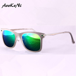 Wholesale Sunglasses Retro Large - AOOKONI AK4210 Unisex Retro UV Protection Style Sunglasses Classic 80's Vintage Design Large Horn Rimmed Outdoor Sports Sunglass UV400