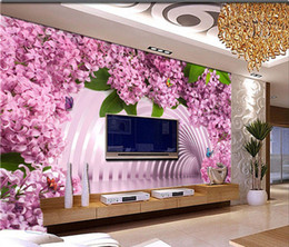 Wholesale wallpaper tv setting - 3d stereo living room is seamless and large mural TV set wall wallpaper and simple dream spend bedroom wall