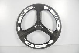 Wholesale Tubular Tri Spoke Front Wheel - 700C Tri Spoke Wheels Carbon Bicycle Wheelset Clincher carbon 3 spoke wheels Road  Fixed Gear wheels HED.3 Wheelset