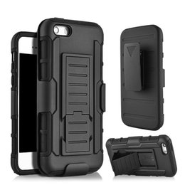Wholesale Holsters For Cellphones - For iphone 7 Armor case Rugged gravity Impact Shockproof kickstand cellphone case with Belt Clip Holster for iPhone 6 Plus 7plus samsung s7