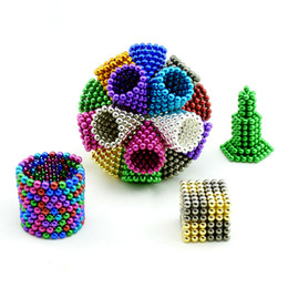 Wholesale Magnetic Beads Toy - 5mm 216PCS Neodymium Magic Cube Magnetic Balls Toys For Children Magnets Puzzle Toys Kids Gifts Spheres Beads Relax de-stress Game Toy