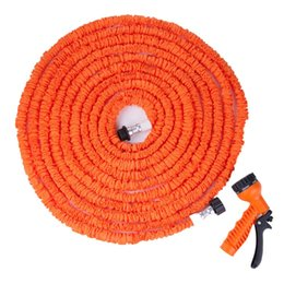 Wholesale Hose Watering 25 - water hose Extensible Magic flexible Garden water Hose for Drip irrigation Car Watering with Spray Gun Orange 25 50 75FT 100FT 125FT