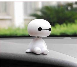 Wholesale Shaking Head Dolls - White and lovely cartoon car car Decoration shaking his head baby dolls dolls car interior decoration popular free postage