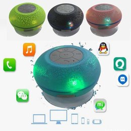 Wholesale Microphone Suction Cup - Suction Cup Water Resistant Wireless Bluetooth Shower Speaker with Microphone Control Cool Crack Pattern 4 Colors