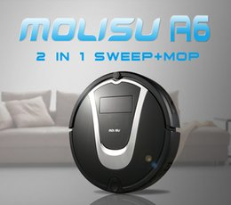 Wholesale New Automatic Cleaner - Brand New MolisuA6 Robot Vacuum cleaner Power Suction Automatic Intelligence Sweeper Cliff Sensor Efficient HEPA Cleaning