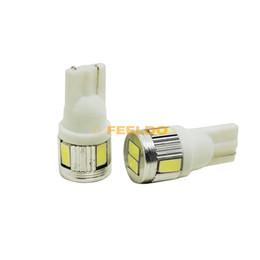 Bombillas de luz blanca pura online-FEELDO 10 UNIDS 12 V 3 W Blanco Puro T10 / 194 / W5W 6SMD 5630 Bombilla de Luz de Coche # 3898