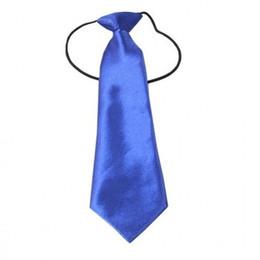 Wholesale Kids Necktie Tuxedos - Wholesale- Boys Girls Necktie Children School Tuxedo Satin Silk Elastic Neck Tie Kids Wedding Ties