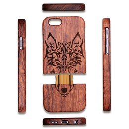 Wholesale Special Case For Iphone - Wood Carving Unique Pattern Special Craftmanship Non Slip Rosewood Case Back Cover For iPhone X 8 6S 6 7 Plus With Opp Bag