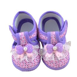 Wholesale Crochet Fabric Wholesale - Wholesale- Baby Shoes Baby Bowknot Boots Soft Crib Shoes Bowknot Anti-slip Safe Soft with Free Shipping High Quality AP25