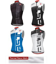 Wholesale High Quality Thermal Fleece Cycling - Hot 2017 winter Cycling thermal Sleeveless jersey MTB sleeveless vest three rear pockets thermal Bike vest   high quality fleece jacket