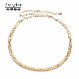 Wholesale Standard Com - Wholesale- Hollow metal chain belt gold belt women 2017 hot fashion womens dress belts cinto feminino com fivelas de metal sterglaw F006
