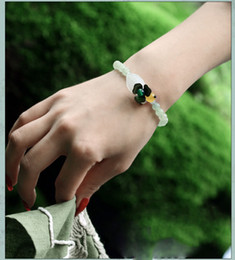 Wholesale Old Party - Old tree natural Dongling jade lap bracelet, Ms. Dongling Yuqing novice beaded bracelet, fashion beaded bracelet