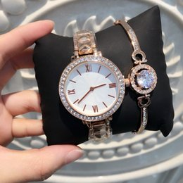 Wholesale Model Watch Brand - 2017 Brand diamond Big dial Watch Fashion Metal Quartz wristwatches for Women Dress luxury watches New model Crystal Watches 15pcs DHL free