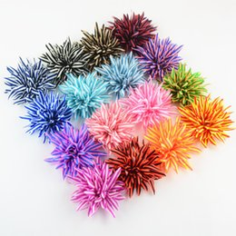 Wholesale Diy Fabric Flower - free shipping 50pcs hair accessories New Fashion Striped Chiffon Flower For Headdress DIY Fabric Headband Accessories (small size) H0222
