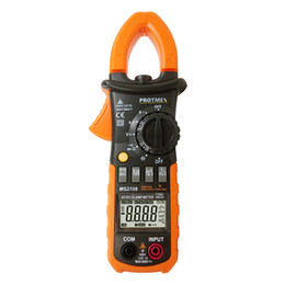 Wholesale Capacitor Meters - MS2108 6000 Counts T-RMS AC DC Clamp Meters INRUSH Ammeter Voltmeter Capacitor Ohmmeter Tester LCD Backlight Electric Tester