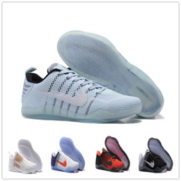 Wholesale Elastic Rubber Ball - 2017 Mens KOBE 11 Basketball Shoes Sneakers Man Sports Bryant Kobes IX Elite Low Sports KB 11s EP Trainer Kobe11 Basket Ball Shoes Size7-12