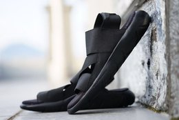 Wholesale Flat Leather Sandals For Women - New Summer Y-3 Qasa Sandal Black New Y3 Sandals KAOHE For Men Women Y3 Slippers High Quality Cheap Sale