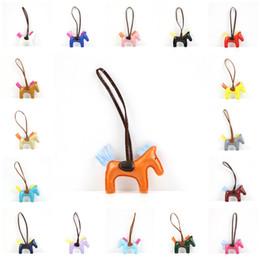 Wholesale Wholesale Horse Handbags - 2017 Tassel Horse Bag Charms For Handbags Decoration 17 Colors High Quality Handmade PU Handbag Bag Charm