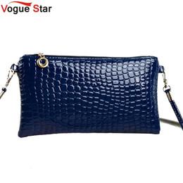 Wholesale Vogue Clutch Wholesale - Wholesale-Vogue Star Bolsas Femininas Small Shoulder Bag Crocodile Pattern Women Cross Body Messenger Bags Handbag Day Clutches YA40-124