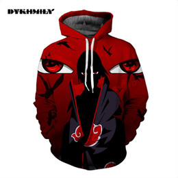 Wholesale Jacket Hoodie Women Outerwear - Wholesale- Naruto Sasuke 3d Anime Hoodie Sweatshirt Male Long Sleeve Outerwear Pullovers One Piece Anime Jacket Men