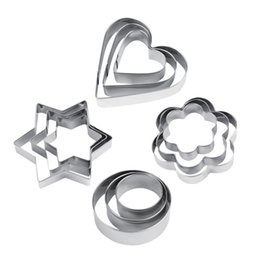 Wholesale Star Cutter Cookies - Hot 12pcs Stainless Steel Cookie Biscuit DIY Mold Star Heart Cutter Baking Mould New