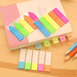Wholesale Office Supply Stationary Set - 10 sets lot Colorful Note Paper Cute Stationary School Office Supplies Stickers Post It Notes Diy Sticky Notes Paper Memo Pad Material Escol