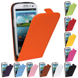 Wholesale S2 Cover Yellow - Luxury flip PU leather case For Samsung Galaxy S2 S3 S4 S5 MINI S6 Cover Vertical phone cases accessories Shell Holster Bag