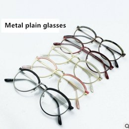 Wholesale Wholesale Colorful Optical Frames - New Style Anti-Radiation Goggles Plain Glass Spectacles Fashion Women Metal Semicircle Frame Glasses Colorful Optical