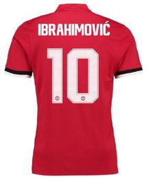 Wholesale Dry Printing - Home Cup Shirt 2017-18 ,Cheap mens Soccer jersey Online with Ibrahimovic 10 printing,Customized men Thai Quality Soccer Jerseys,yakuda store