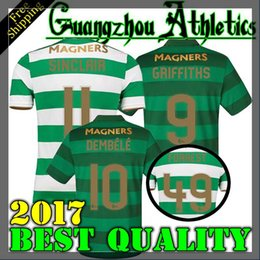 Wholesale Top Quality Jerseys - TOP Quality 2017 2018 Celtic FC Home Soccer Jersey 17 18 Celtic Griffiths dembele Sinclair Rogic McGregor Roberts Forrest Jersey