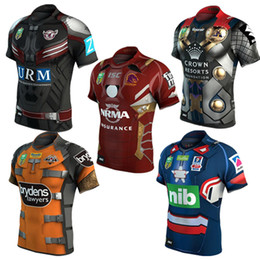 Wholesale Black Cowboy Shirt - Wests Tigers Newcastle Knights Manly Sea Eagles Brisbane Broncos Melbourne Storm Rugby Jerseys Shirts North Queensland Cowboys Roosters