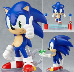 Wholesale sonic pvc - POPOToyFirm Q Version Sonic The Hedgehog 214 10cm PVC Action Figure Toy Doll For Nendoroid Kids Gift