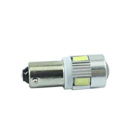 Wholesale 1156 Led Interior Bulb - 100PCS white car bulbs BA9S Led reading light T4W automotive Interior Lamp sourse 6smd 5630 DC 12V