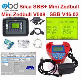 Wholesale Zed Bull - 2017 DHL Free Silca SBB V46.02 + Mini Zedbull Auto Key Programmer SBB SW V46.02 Zed Bull SW V508 OBDII Car Key Maker Zed-Bull