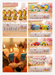 Wholesale Cake Cupcake Candles - Creative Cartoon Kid's Birthday Cake Cupcake Toppers Party Birthday Candle.Creative Birthday Cake Candles.Party Supplies