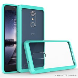 Wholesale Hard Clear Case Blackberry - ZTE Zmax Pro Z981 TPU Case Hard Armor Cover Superior Plastic Shell with retail pp bag package protective sleeve Shell for ZTE Pro Blue Red
