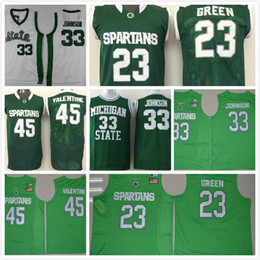 Wholesale Draymond Green - cheap College 33 Magic Johnson Uniform 45 Denzel Valentine 23 Draymond Green jersey 2017 New Arrive Michigan State Spartans Magic jersey