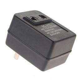 Wholesale Adapter Regulator - Newest 50W AC 110V to 220V Voltage Converter Regulator Travel Portable Converter Set UpTransformer Adapter Promotion