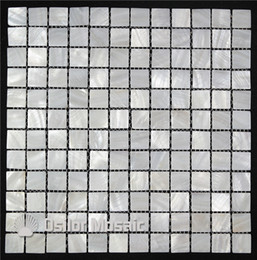 Wholesale Interior Wall Color - pure white color 100% Chinese freshwater shell mother of pearl mosaic tile for interior house decoration bathroom and kitchen wall tile