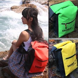 Wholesale Orange Golf Bag - 6 Colors 25L Outdoor Waterproof Bag for Beach Camping Mountaineering Swim Outdoor Sports Bag Outdoor Backpack CCA6615 10pcs