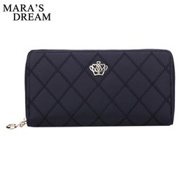 Wholesale Crown Embellishments Wholesale - Wholesale- Mara's Dream Women Wallet Clutch Bag Vintage Crown Embellishment Plaid Wallets Female ID Card Holder Purse Phone Case Money Bag