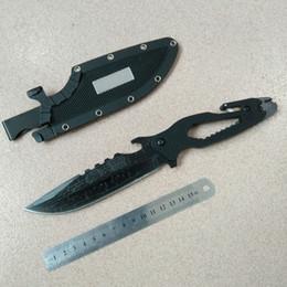 Canada Crkts Camping couteau pinces de pêche construit dans la clé rapide secant bouteille ouvre couteau couteau outils renard engrenage 1pc Offre