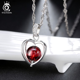 Wholesale platinum clusters - New Arrival,Natural Garnet Elegant Pandent Necklace,S925 Sterling Silver with 3 Layer Platinum Plated,Allergy Free ON48