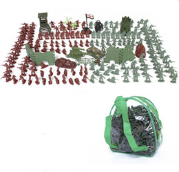 Wholesale Toy Military Soldiers - 238pcs set 4cm mini military equipment plastic soldier model toys for boy best brinquedos gift for kids