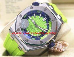 Wholesale Divers Men - Luxury Wristwatch Diver ST.OO.A038CA.01 Green Rubber Bracelet Automatic Watch Men Watches Top Quality New Arrival