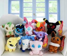 Wholesale Glaceon Leafeon Stuffed Animals - Poke plush toys 10 styles Mew Umbreon Eevee Espeon Jolteon Vaporeon Flareon Glaceon Leafeon sylveon Animals Soft Stuffed Dolls toy