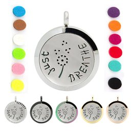 Wholesale 316 Stainless Steel Magnetic Lockets - Hot Sale 30mm magnetic diffuser pendant necklace 316 Stainless steel aromatherapy perfume locket necklace essential oil jewelry