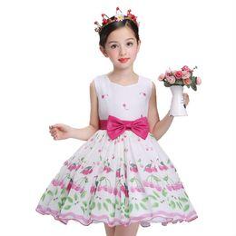 Wholesale Watermelon Formal Dresses - 2017 Summer New Baby Kids Girl Clothes Summer Girls Dresses Princess Wedding Birthday Flower Girl Dress D17051601